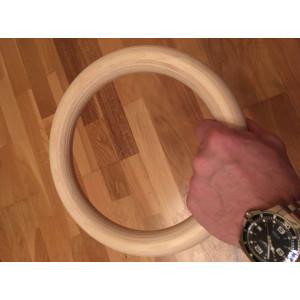 Romerska Ringar i Trä UTOMHUS, Handlackerade VIT