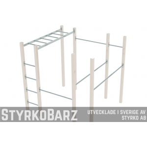 Pull Up bar 3.37x43.5 cm, Utegym - Rostfritt stål (Barz only)
