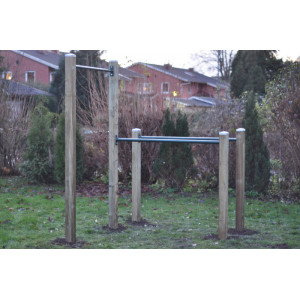 Pull Up bar 3.37x121 cm, Utegym - Rostfritt stål (Barz only)